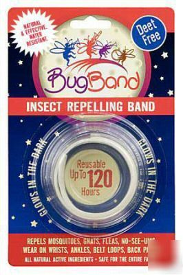 Bug band insect repellent wristbands deet free glow