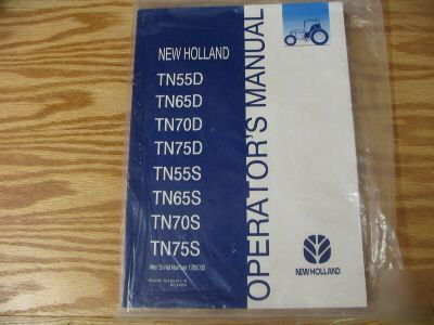 New holland TN55D to 75D,TN55S to 75S operators manual