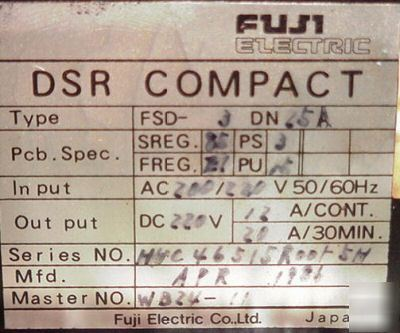 Fanuc fuji dsr compact dc spindle drive type fsd-j