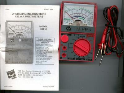 New sperry/commerc.ele.hsp-10 multimeter . leads, 10 lot