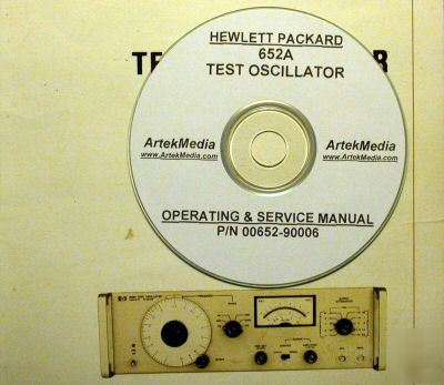 Hp 652A service & operating manual
