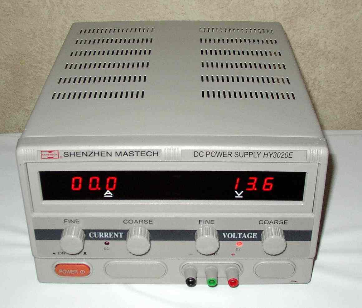 Mastech variable regulated dc power supply 0-30V 0-20A