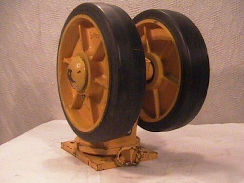Duel Wheel Swivel Casters Saginaw Prod Heavy Duty Usa