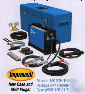 Miller maxstar 150 sth tig package w/x-case 907136017