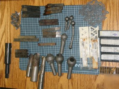 Misc.end mills and lathe bits,deburring, tooling insert