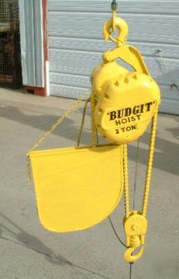 budgit 2 ton electric chain hoist crane 220 v 3 phase. Black Bedroom Furniture Sets. Home Design Ideas