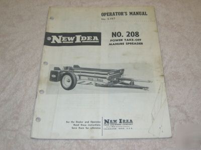 new idea operator manual no 208 pto manure spreader