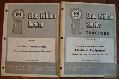 International service tractors electrical equipment