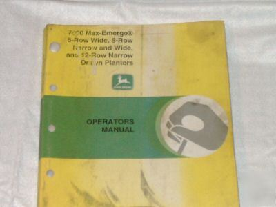 John deere operators manual/ narrow & wide planters