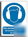 Ear protection sign-s. rigid-200X250MM(ma-023-re)