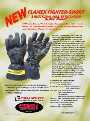 Chiba flamex fighter gloves - short sleeves - NFPA1971