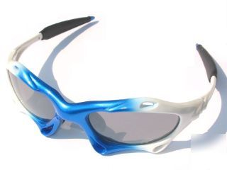 Italian style sunglasses phantom white fixed lens phawb