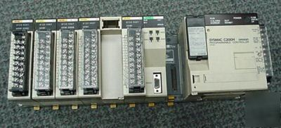 Omron C200H-BC081 cpu base unit with in/out cards& more