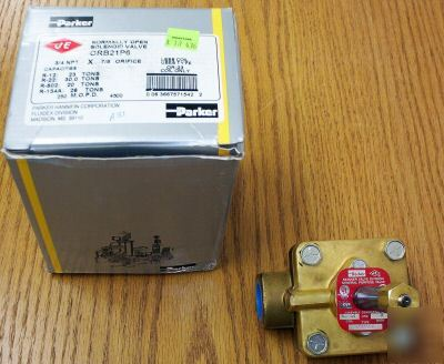 Parker ORB21P6 normally open solenoid valve
