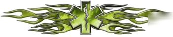 Flaming star of life decal reflective 12