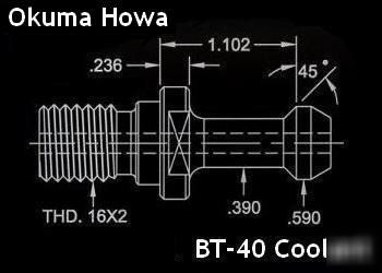Okuma howa cnc bt-40 coolant retention knobs
