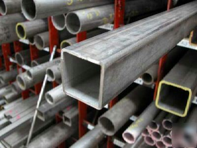 Stainless steel sq tube mill finish 11/2X11/2X16GAX36