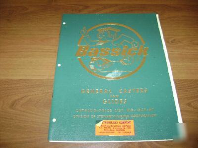 1967 bassick caster and glide catalog,price list gcp-67