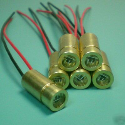 6 x 650NM 5MW laser cross module 3VDC full brass case
