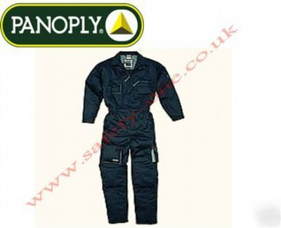 Black overalls boilersuit, knee pad pockets xxl