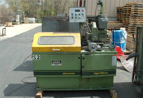 Dake tiger 350AX cold cutoff saw used