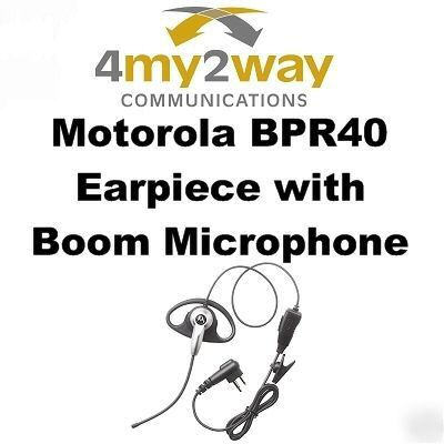 Motorola mag one BPR40 earpiece with swivel boom mic