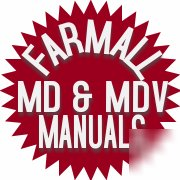 Farmall md & mdv tractor owner's & service manual's ihc