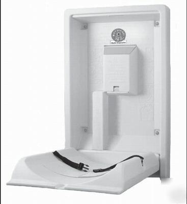 Vertical, surface-mounted baby changing station (KB101)