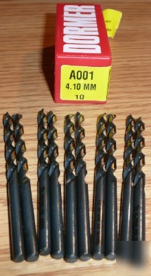 New 10PC dormer hss jobber drill 4.10MM