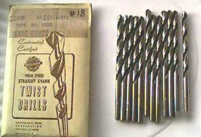 New usa made #18 jobbers lenght drill bits 12 pack