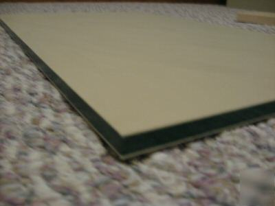 Tan green tan plastic colorcore sheet 1/2 x 16