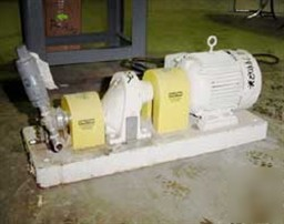 Used: maag gear pump, model tx/22/13E, stainless steel.