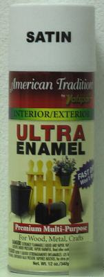 6 cans of american tradition ultra enamel - satin white