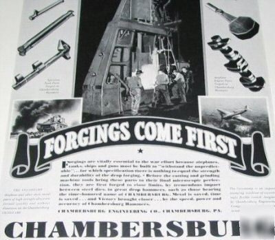 Chambersburg presses-hammers-cecostamps WW2-6 1940S ads