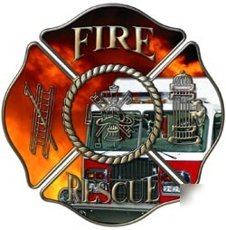 Firefighter decal reflective 6
