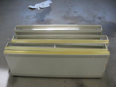 4 foot lighted commercial shelving sections 4 shelves