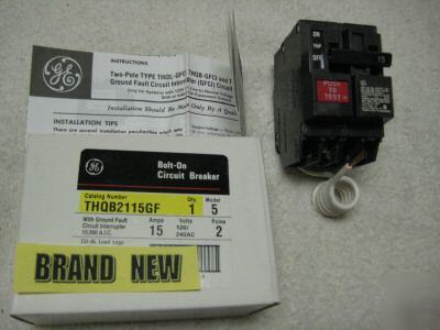 New THQB2115GF ge 2P 15A general electric ------> brand
