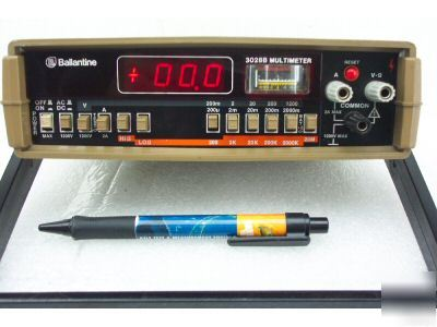 New ballantine 3028B rms multimeter w/ leads & options