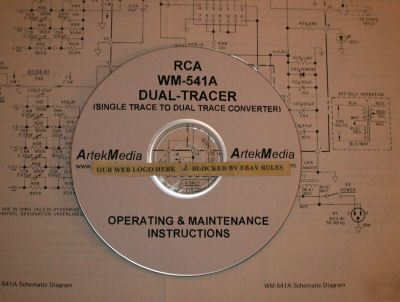 Rca wm-541A dual tracer operating & maintenance manual