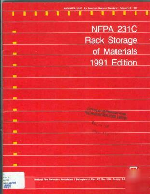 Nfpa 231C rack storage of materials, fire safety