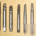 Drill bits easy outs group of 12 parts for your tool