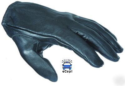 Damascus dyna thin unlined leather search gloves md