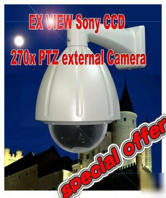 Cctv sony ex-view ccd speed dome external ptz camera