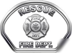 Fire helmet face decal 49 reflective rescue white