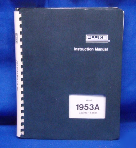 Fluke 1953A counter timer service manual