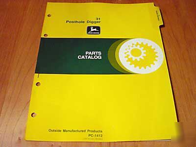 John deere 31 post driver parts manual catalog jd oem