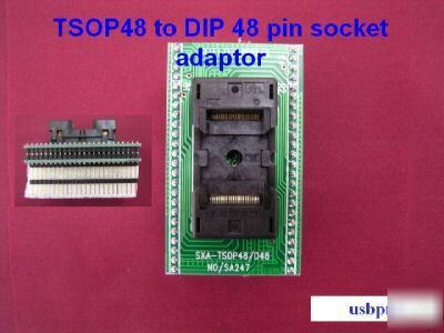 TSOP48 to dip 48 pin smd ic bios chip socket adaptor