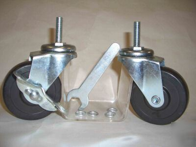 4 heavy duty casters & wheels with 3/8
