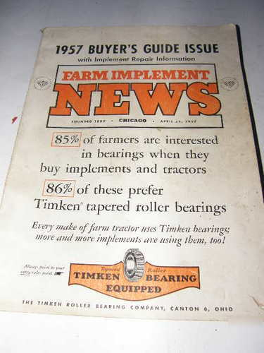 Implement & tractor red book 1957 power farm equipment