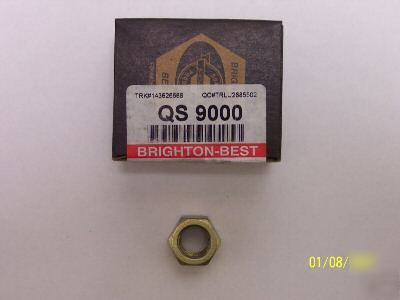 25 pc brighton-best grade 8 hex nuts zinc nuts 7/8-9